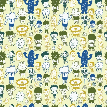 absurd: seamless cartoon pattern Illustration