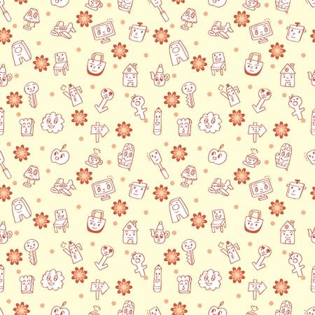 seamless cartoon pattern Stock Vector - 8480502