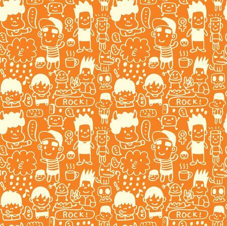 seamless cartoon pattern Vector