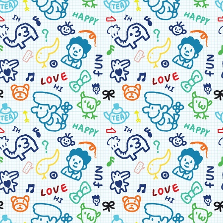 baby school seamless pattern Stock Vector - 8480541