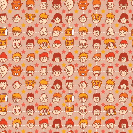 seamless face pattern Stock Vector - 8480520