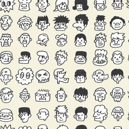 seamless cute cartoon pattern Stock Vector - 8480489