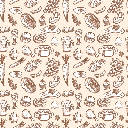 seamless food pattern Vector