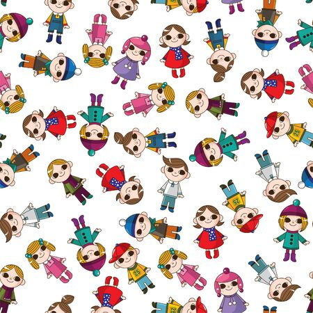 seamless child pattern Stock Vector - 8480533