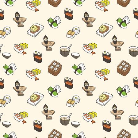 sushi seamless pattern Stock Vector - 8480538
