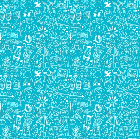 seamless travel pattern Vector