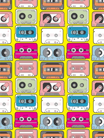 music tape seamless Stock Vector - 8480537