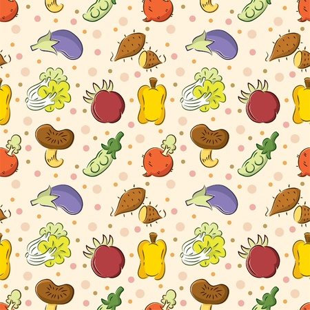 seamless Vegetables pattern Vector