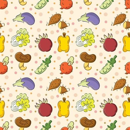 seamless Vegetables pattern Stock Vector - 8480518