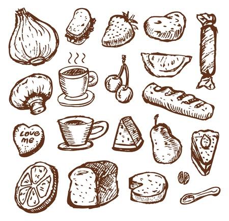 스케치 식품 일러스트