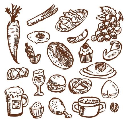 sketch food Vector