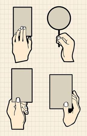 hand card Vector