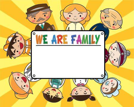 family card Stock Vector - 8480474