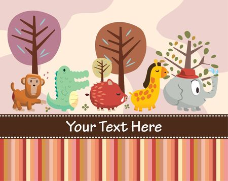 animal card Stock Vector - 8480469