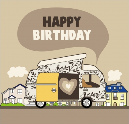 happy birthday card Stock Vector - 8480490
