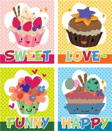 card cake Stock Vector - 8480497