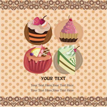 cake card Vector
