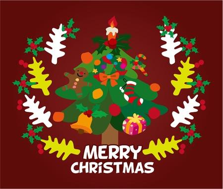 cute christmas card Stock Vector - 8480478