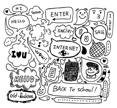 cute speech doodle Stock Vector - 8480464