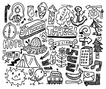 doodle travel Stock Vector - 8480479