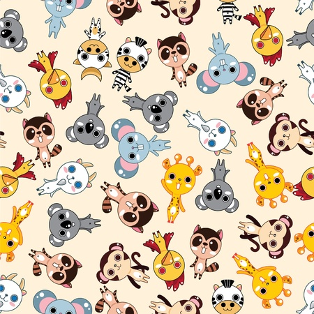seamless animal pattern Stock Vector - 8486713