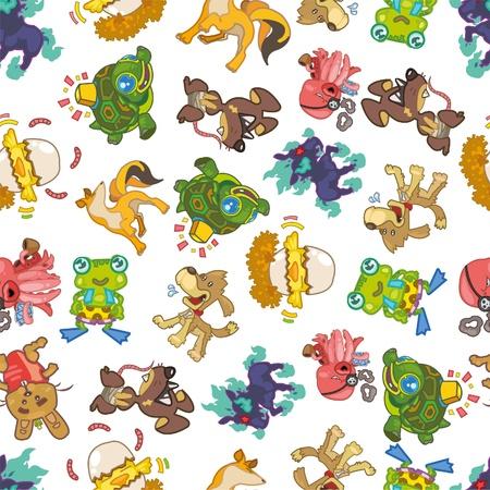 frog egg: seamless animal pattern