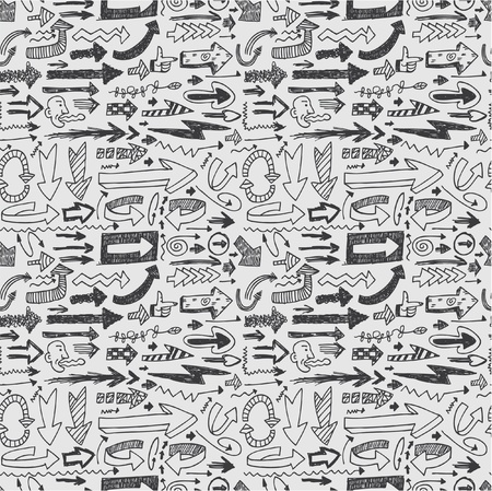 doodled: seamless arrow pattern Illustration