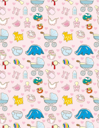 nipples: seamless baby toy pattern