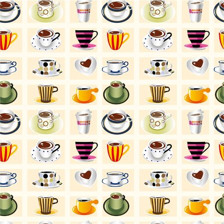 croissants: seamless coffee pattern
