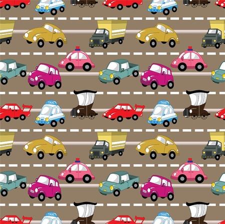 seamless car pattern Vector