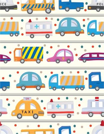 seamless car pattern Illustration