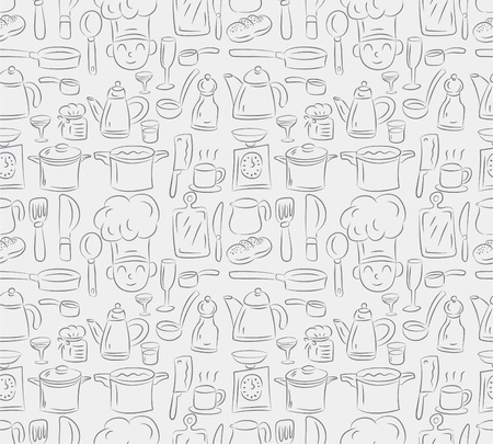seamless cooking pattern Vector