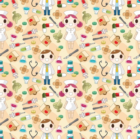 seamless doctor pattern Stock Vector - 8480379