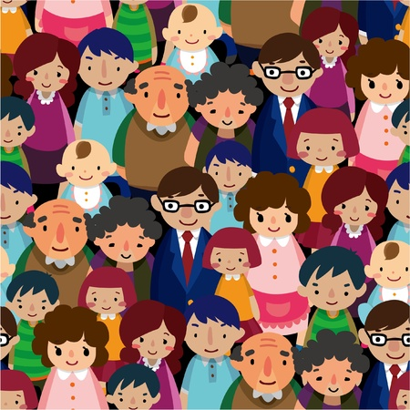 cheerfully: seamless family pattern Illustration