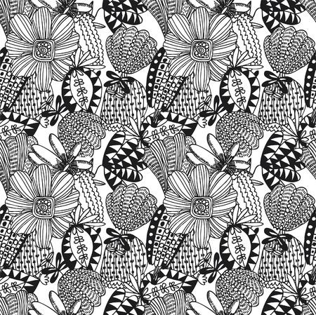 seamless flower pattern Stock Vector - 8480382