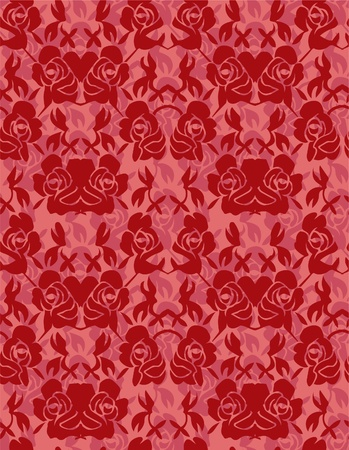 seamless rose pattern Vector