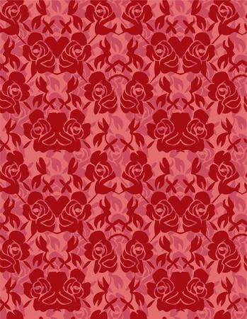 seamless rose pattern Stock Vector - 8480372