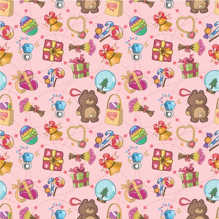 seamless gift pattern Vector