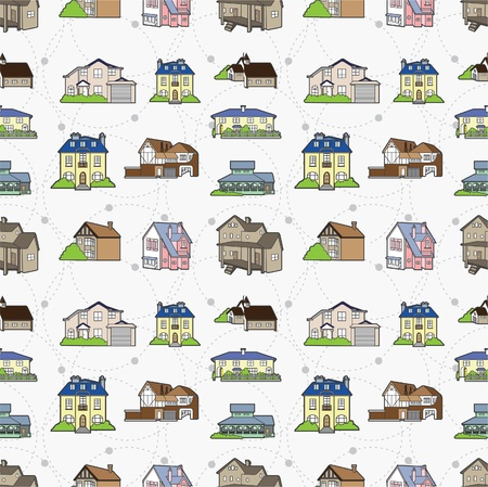 seamless house pattern Stock Vector - 8472609