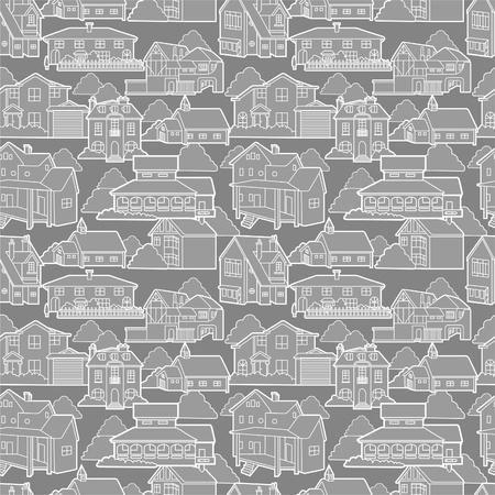 city live: seamless house pattern