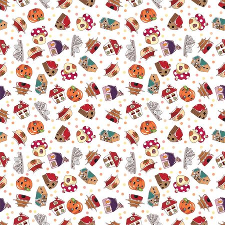 seamless house pattern Stock Vector - 8472615