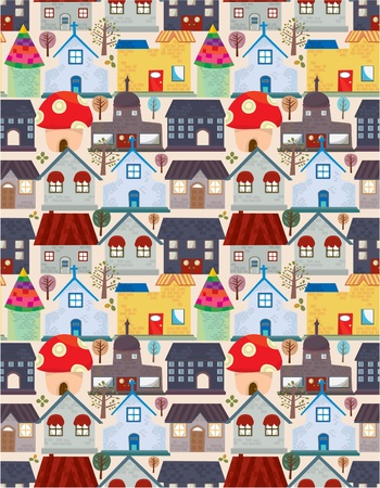 house series: seamless house pattern