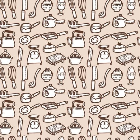 mixers: seamless kitchen pattern