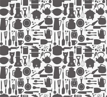 seamless kitchen pattern Stock Vector - 8472586