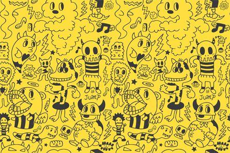 seamless monster pattern Stock Vector - 8472592