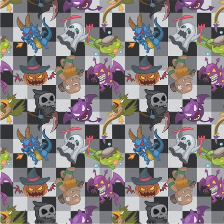 seamless monster pattern Stock Vector - 8472583