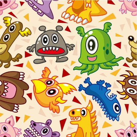 seamless monster pattern Stock Vector - 8472573