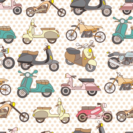seamless motorcycle pattern Vector