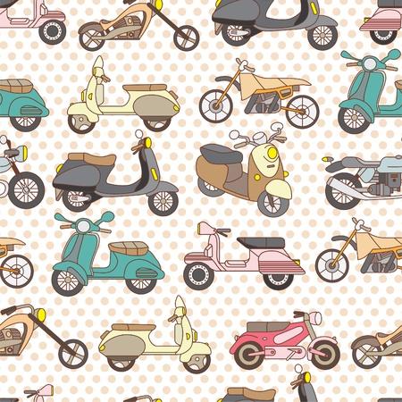 recreational vehicle: seamless motorcycle pattern