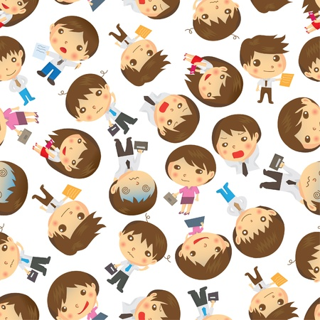 seamless people pattern Vector